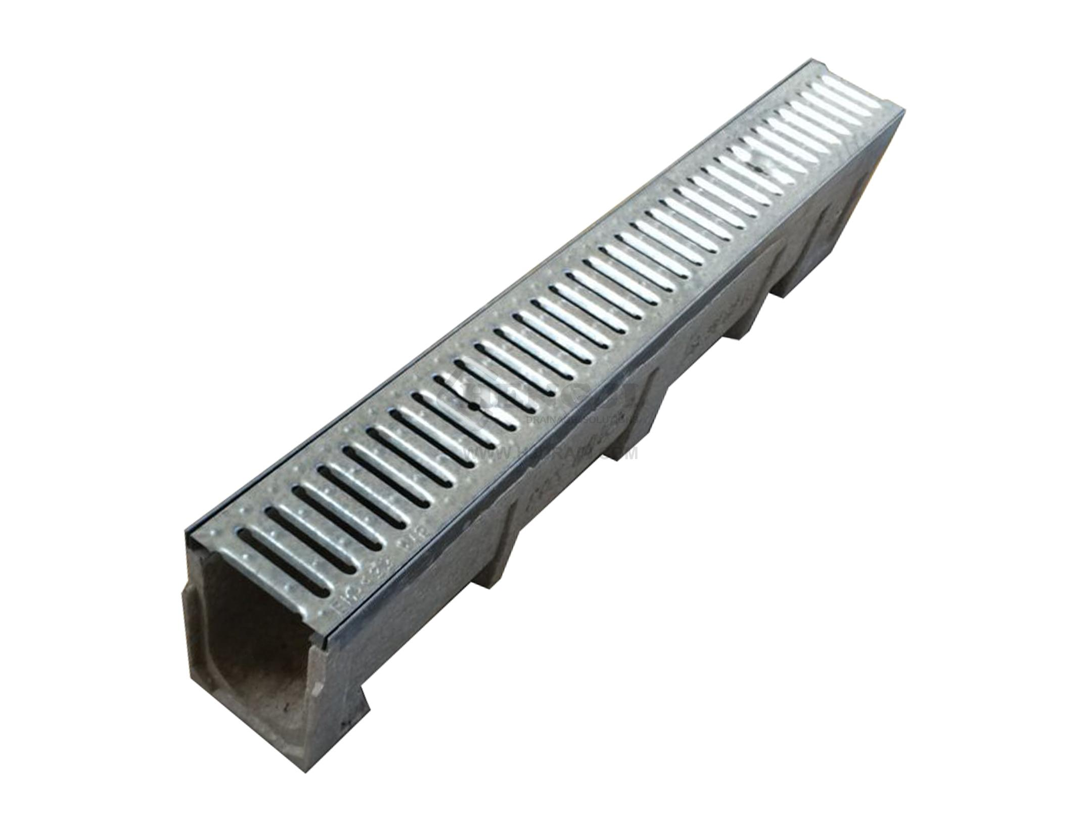 Trench Drain Se100 Z03 With Stainless Steel Grate